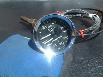 smiths classic temperature / oil gauge  2'' fb eh hd ht xp mini triumph torana *