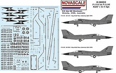 RAAF F-111C&G 1&6 Sqn Decals Low-Vis 1/48 Scale N48028