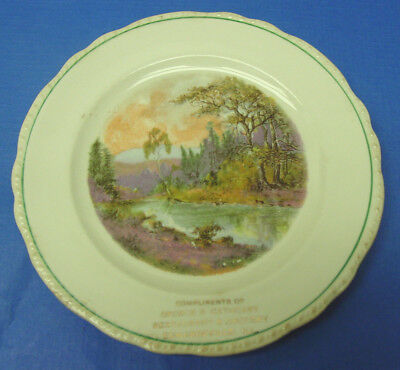 Souvenir Plate: Edwardsville, Mad Co., Illinois. Compl. Of Cathcart Rest & Groc