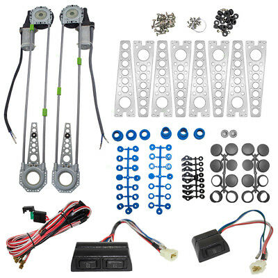 2 Dr Car Universal Electric Power Window Lift Regulator Conversion Spal Type Kit
