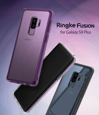 Samsung Galaxy S9 Plus Case [Ringke Fusion] Clear PC Back TPU Bumper Protection