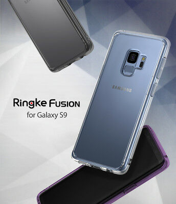 Samsung Galaxy S9 Case [Ringke Fusion] Clear PC Back TPU Bumper Protection Cover