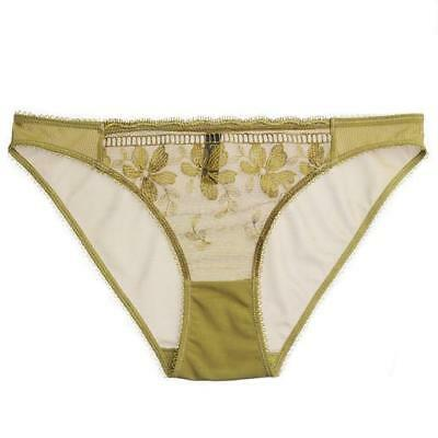 LONELY sz M (or 12 / 8 US ) womens Effie brief in chartreuse NEW + TAGS[#A31]