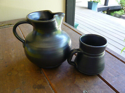 Old english pottery jug and cup by Prinkmash