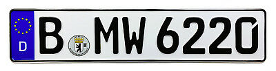 BMW European German License Plate