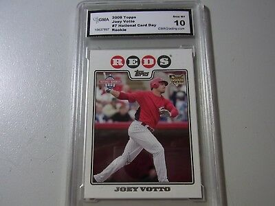 2008 Topps National Card Day Rookie Card Graded Gem Mint 10 Joey Votto Reds #7 $