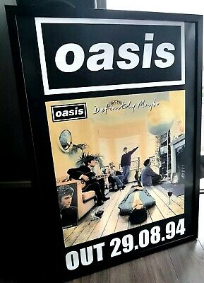 Oasis Definitely Maybe Framed Poster-Limited Edition-Liam Gallagher-Certificate