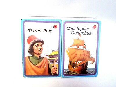 Two Vintage Ladybird Discoverers Books: Christopher Columbus and Marco Polo (D)
