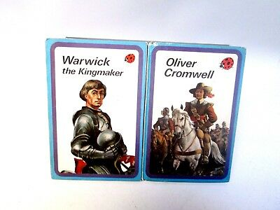 Two Vintage Ladybird History Books: Oliver Cromwell & Warwick the Kingmaker (E)