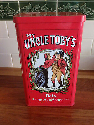 Large Collectable Uncle Toby's Oats  tin .  1 kg..
