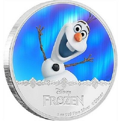2016 $2 Niue - Disney Frozen - Olaf -1oz Silver Proof Coin New Zealand Mint
