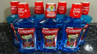 7 Colgate Total 12 hr Pro-Shield PEPPERMINT BLAST Alcohol Free Mouthwash 16.9 oz