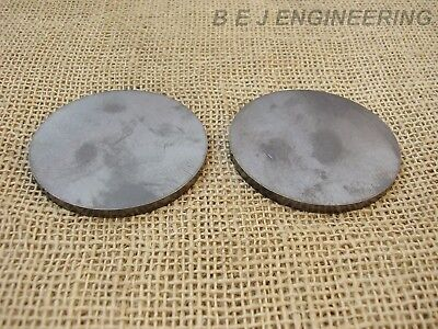 "Mild Steel Disc Circle 75mm(3"") dia x 5mm(3/16"") Pk of 2 - Laser Cut"