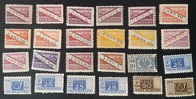 RARE 1917-  Italy lot of 24 Parcel Post stamps Mint / MUH