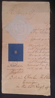 SCARCE 1858 Great Britain Embossed Revenue Escutcheon with Cypher Seal