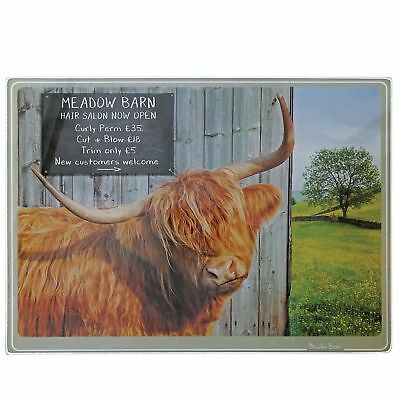 Kitchy and Co A29167 Meadow Barn Highland Cow Chopping Board