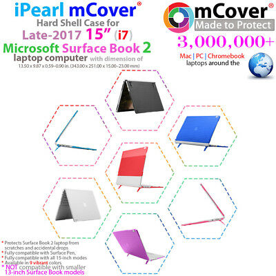 NEW mCover® Hard Shell Case for 15-inch Microsoft Surface Book 2 Notebook Laptop