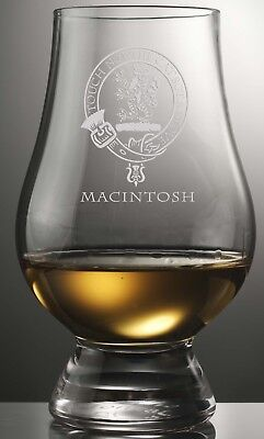 Clan Macintosh Scotch Malt Whisky Glencairn Tasting Glass