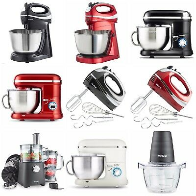 Electric Handheld Blender Stand Mixer Chopper Kitchen Mill Smoothie Soup Maker