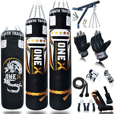 14 Piece Boxing Set Filled Heavy Punch Bag Gloves, Training Punch Bags 3,4,5FT