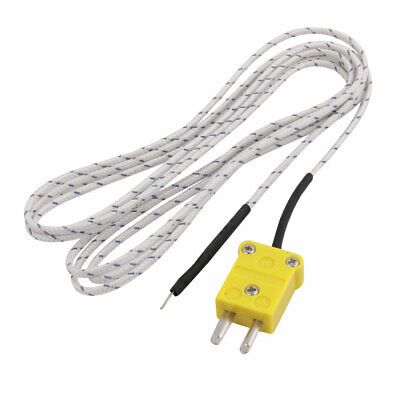 -50C to 204C K-Type Thermocouple Probe Temperature Sensor 2 Meters Cable