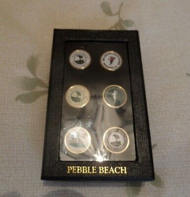 Pebble beach golf ball marker set