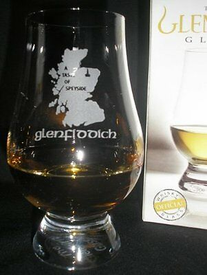 "Glenfiddich ""a Taste Of Speyside"" Scotch Malt Whisky Glencairn Tasting Glass"