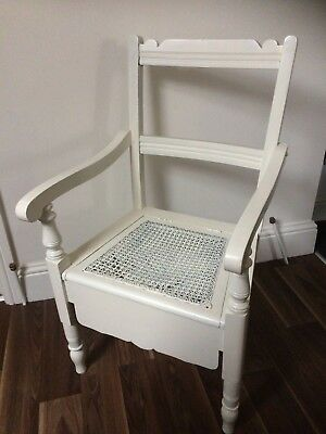 Victorian Commode (Maybe Oak and Painted White) ALDERLEY EDGE SK9