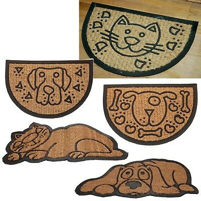 Animal Shaped Entrance Door Mat Door Indoor Outdoor Front Coir Non Slip Rubber