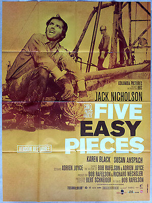 2012RR FIVE EASY PIECES Jack Nicholson Bob Rafelson French movie poster 47x63