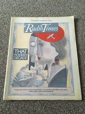 Radio Times. Britain In The 30s. 23-29 April 1983