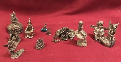 Fairy And Wizard Pewter Ornaments