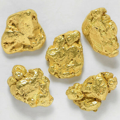 5 pcs Alaska Natural Placer Gold - Alaskan Gold - TVs Gold Rush (#G465-1)