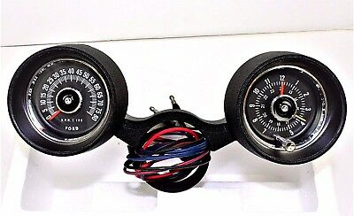 "1966 Ford Mustang Rally-Pac Kit V8 W/ 8000 Rpm ""ford"" Tachometer # 66F-13508-Mf"