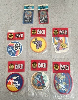 Lot Of 8 Vintage 1982 Walt Disney World Epcot Center Patches NIP Figment Opening