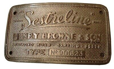 SESTREL Marine WOODEN BINNACLE Builder's Plate / Plaque - FREE SHIPPING (5128)