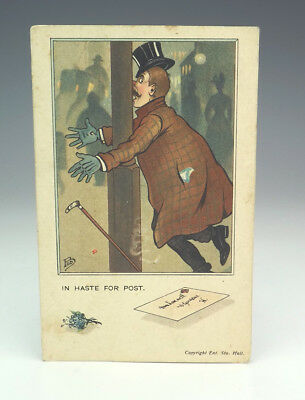 Vintage In Haste For Post - Royal Mail Postal Related Postcard - Unusual!