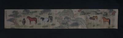 Chinese Old Zhang Hong Scroll Painting Horse 66.93