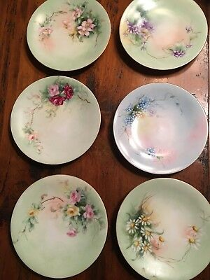 Lot Of 6 Antique Small Plates By JP Limoges Jean Pouyat France