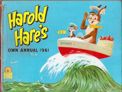 HAROLD HARE'S OWN ANNUAL 1961 hardbck Jack Jill Rare childs classic collectable