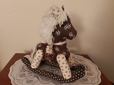 Boutique Style Rocking Horse Handcrafted  Item