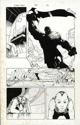 PLANET HULK original art Pagulayan & Huet! Worldbreaker Hulk/Green Skaar panel!