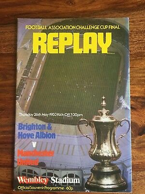 Brighton v Manchester United FA Cup Final Replay 1983