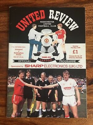 Liverpool v Nottingham Forest FA Cup Semi Final 1989 @ Old Trafford