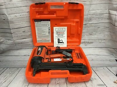 USED, Ramset TF1200 Trakfast Fastener Gun with 2X Battery, Charger and Case-
