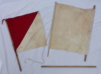 Vintage WW2 US Army WWII Signal Corps Signal Flag Military