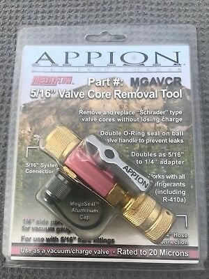 """Appion MGAVCR MegaFlow™ 5/16"""" Valve Core Removal ToolNew in original packaging"""