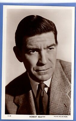 Old Vintage Rp Postcard Canadian Stage Film Actor Robert Beatty