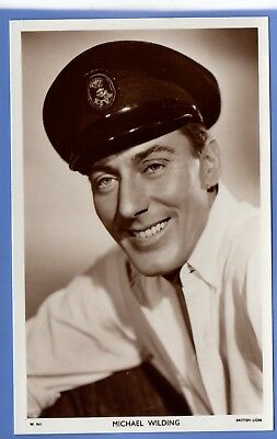 Old Vintage Rp Postcard English Stage & Film Actor Michael Wilding