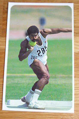 Daley Thompson Athletics 1982 Olympics Robinsons Sporting Records Card  1983